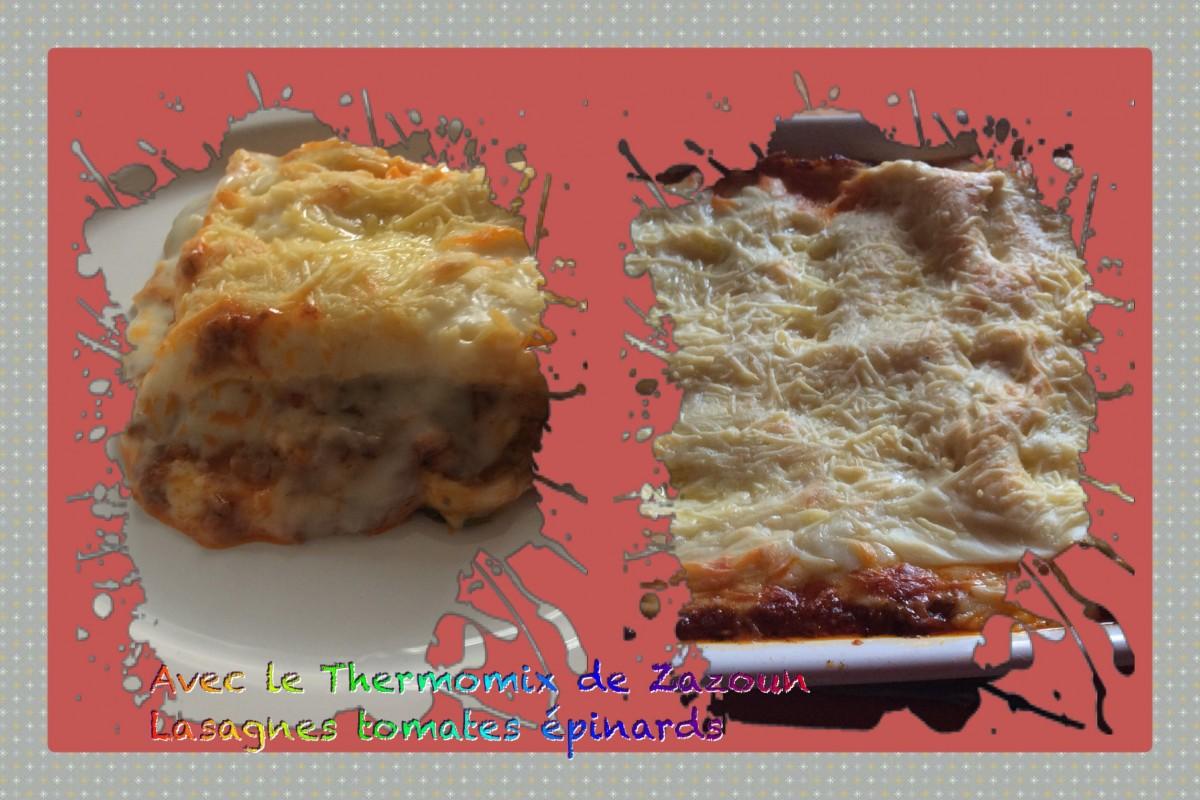 Lasagnes aux tomates et épinards avec ou sans lactose