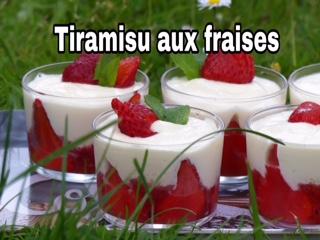 Tiramisu aux fraises Thermomix en vidéo