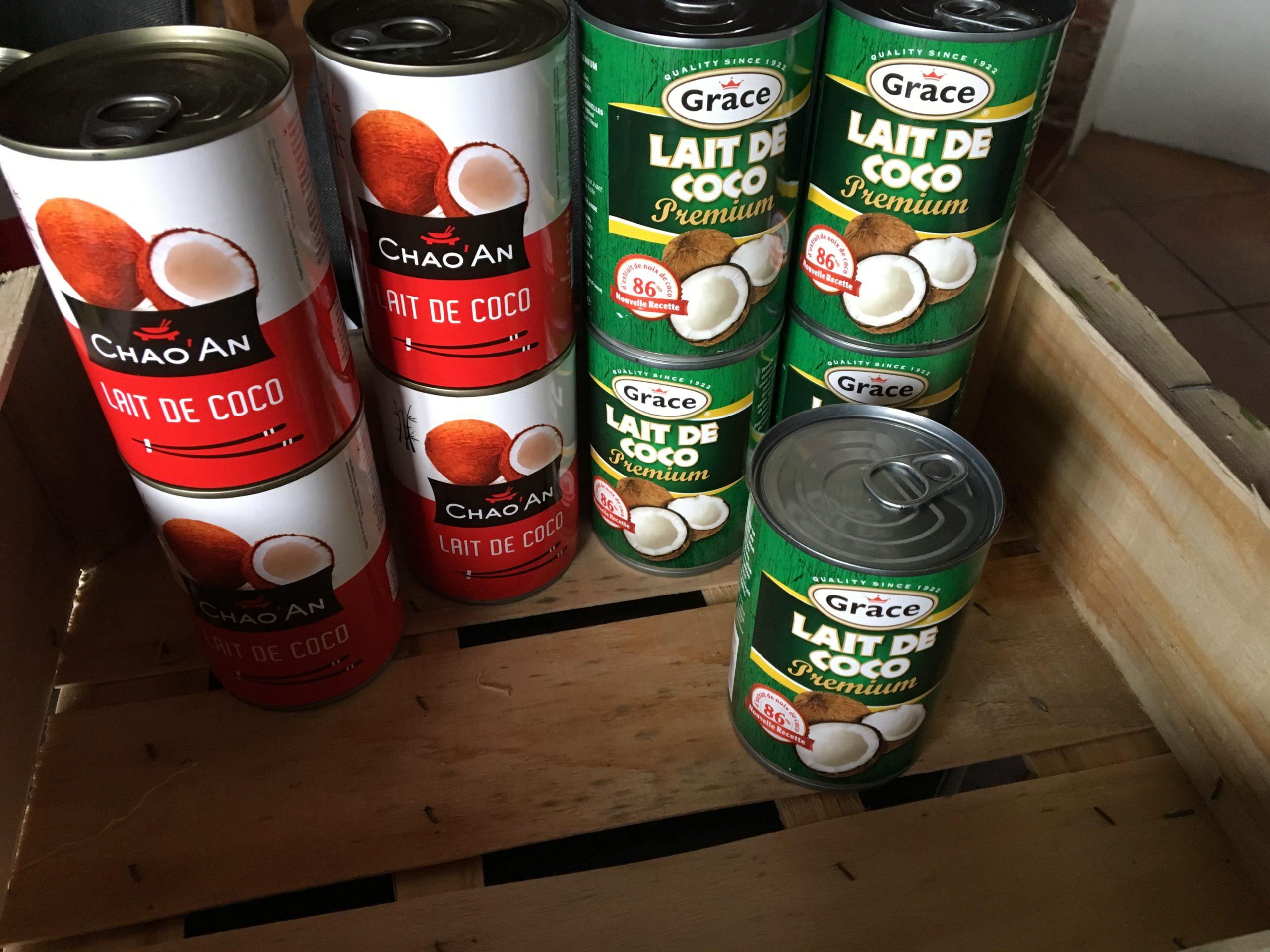 Ou je trouve mon lait de coco et la crème de coco à un prix imbattable pour faire de la chantilly