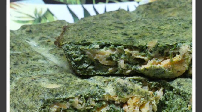 Flan d'épinards au saumon ou truite fumé (e) au Thermomix