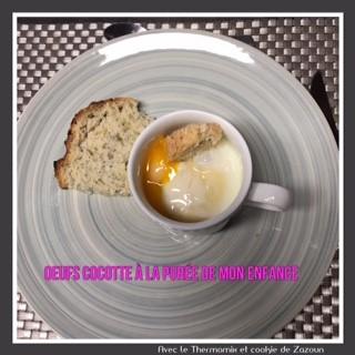 Oeufs cocotte avec un reste de purée cuisson au varoma thermomix tm31, tm5, tm6