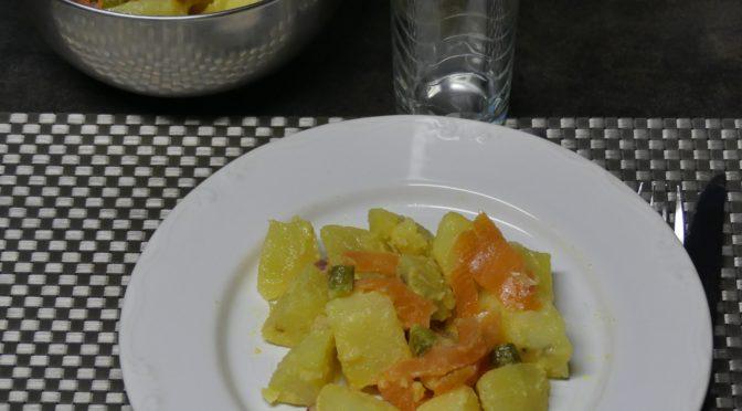 salade de pommes de terre au saumon fumé