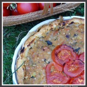 tarte salée aux légumes d'été au Thermomix