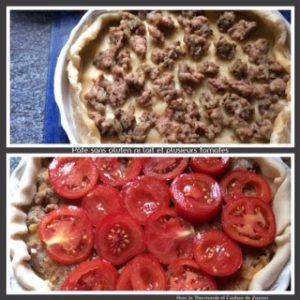 tarte sans gluten  ni produit laitier et recouverte de tomates