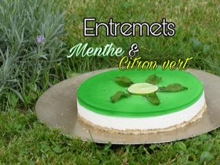 Bavarois citron vert et menthe au Thermomix. Possible sans gluten et sans lait