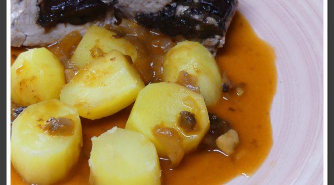 Filet mignon de porc aux pruneaux au Thermomix naturellement sans gluten ni lait