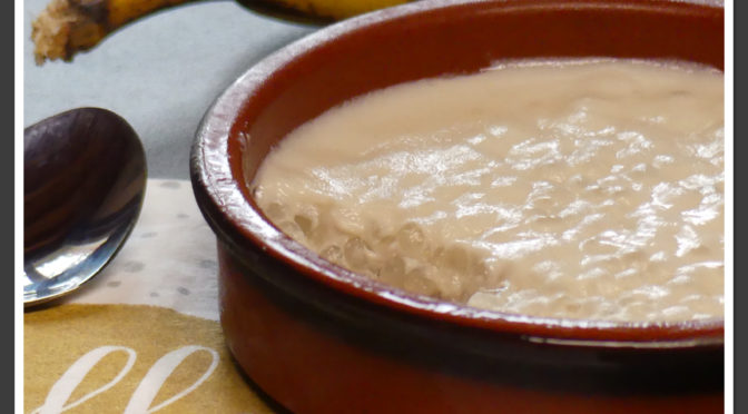 Crèmes coco banane aux perles du Japon (sans gluten ni produits laitiers)