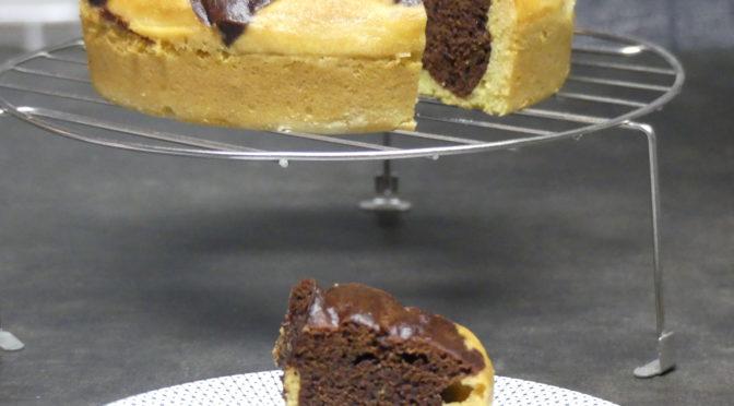 Gâteau marbré comme un savane à la vapeur au  Thermomix