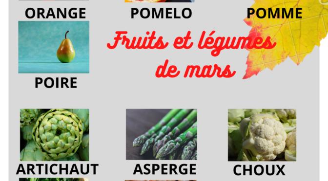 Les fruits et légumes de mars et recettes de saison au Thermomix ( parfois avec l'aide du cookéo ou cocotte )