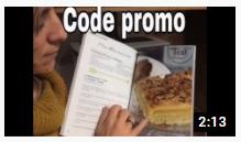 Code promo de nouveau sur mon livre de recettes