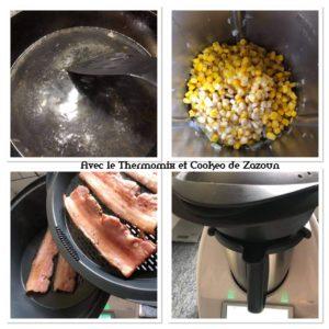 poitrine d eporc et purée de maïs au thermomix