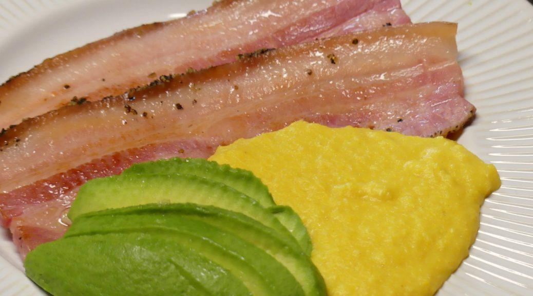 poitrine de porc purée de maïs