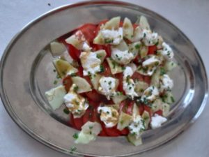 salade de tomates et mozzarella de cyril Lignac